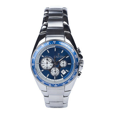 Croton Men's CC311362SSBL Quartz Chronograph Silver Bracelet 42mm Watch