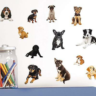 LUV PUPPIES 15 Wall Decals Dogs Puppy Room Decor Stickers Yorkie Bulldog Boxer