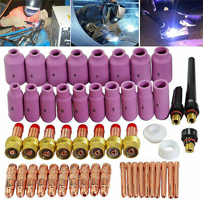 Tig Gas Lens Collet Body Consumables Kit Fit Wp-17 18 26 Tig Welding Torch 51pcs