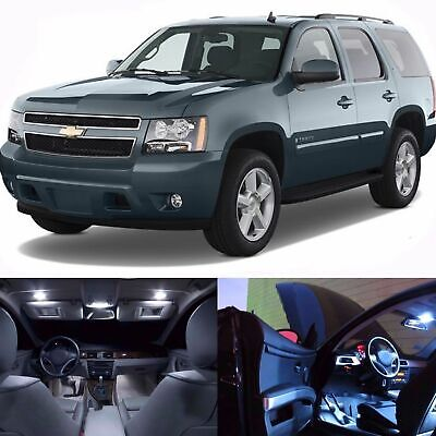 White Car LED Lights Interior Package Kit For 2007-2014 Chevy Suburban Tahoe