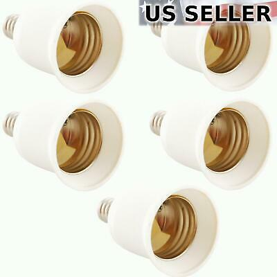 Candelabra Base Socket - 5x Light Bulb Socket Adapter Candelabra E12 to Medium Base E26 Screw Enlarger