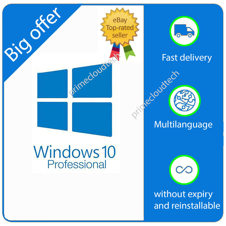 Licenza Microsoft Windows 10 Pro Professional ESD ATTIVAZIONE DA SITO UFFICIALE
