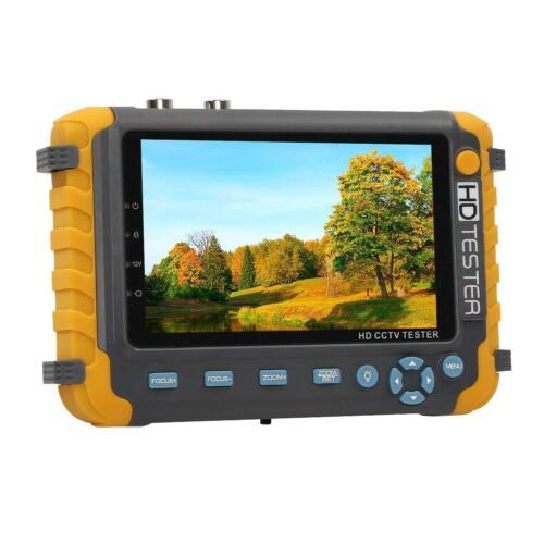 "5"" HD CCTV Tester Monitor AHD TVI CVI CVBS Camera 8MP HDMI VGA Input UTP Cable"