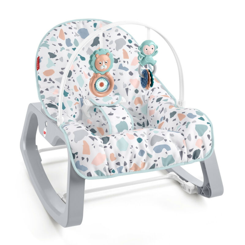 Fisher Price GKH64 Infant to Toddler Portable Baby Seat Rocker, Pacific Pebble
