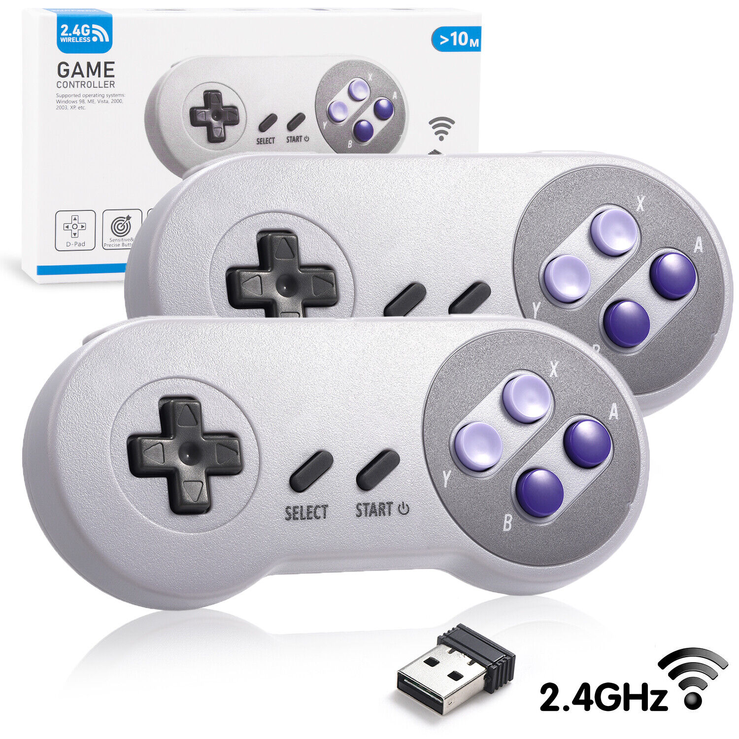 Details about USB PC Game Controller Wireless Classic SNES for Windows 10 7  Mac Raspberry Pi