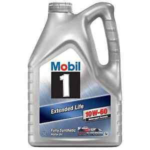 MOBIL 1 EXTENDED LIFE 10W-60 FULLY SYNTHETIC ENGINE OIL 5L LITRE - 151069