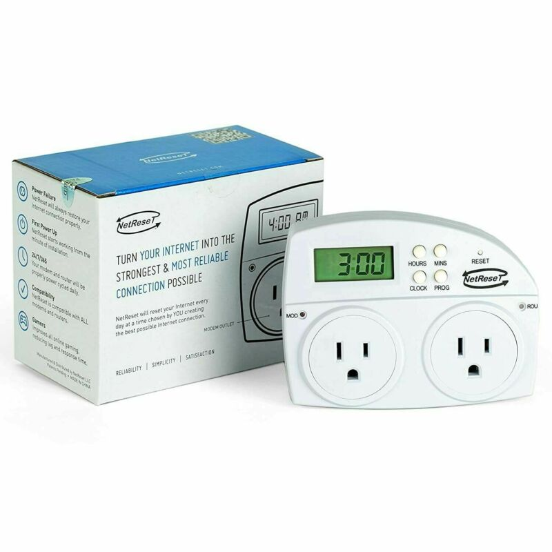 NIB NETRESET SMART POWER CYCLER DIGITAL TIMER OUTLET RESET FOR MODEMS & ROUTERS