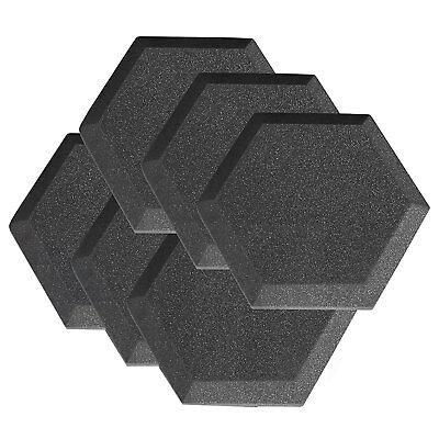 "6 Pack Hexagon Soundproofing Acoustic Foam Tiles Wall Panels 6"" X 6"" X 2"" Hexa"