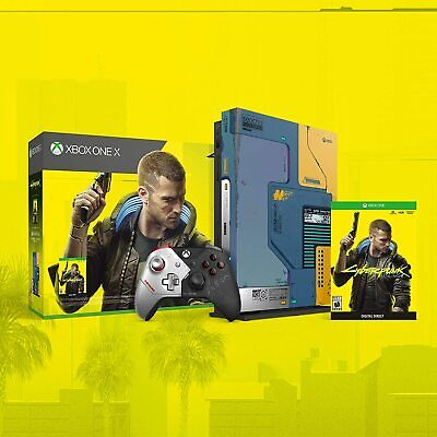 Xbox One X 1TB Console Cyberpunk 2077 Limited Edition Bundle Collectors IN HAND