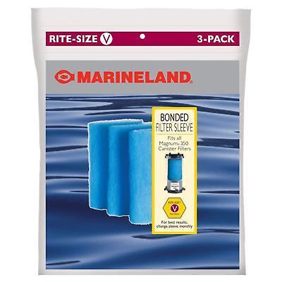 Marineland Bonded Filter Sleeve for Magnum 350 Canister Aquarium Filter 3 Counts