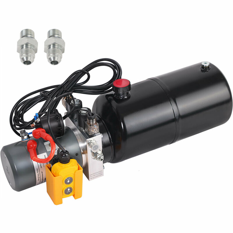 HONYTA 8 Quart Hydraulic Pump Dump 12V DC Trailer Double Acting Power Unit