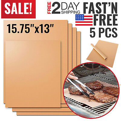 Copper Grill Mat BBQ Pad Non Stick Barbecue Mat Cooking Chef Bake Reusable