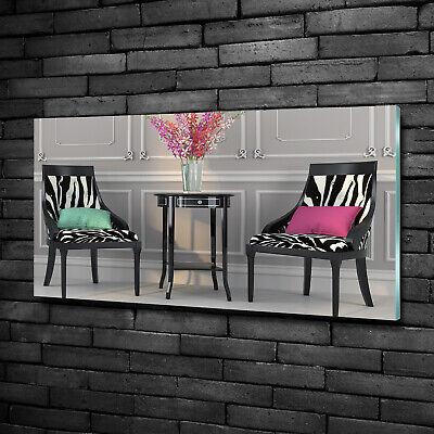 Wandbild aus Plexiglas® Druck auf Acryl 100x50 Sonstige Zwei Stühle