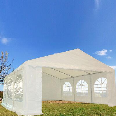 20'x16' PE Party Tent - Heavy Duty Carport Canopy Wedding Shelter - White