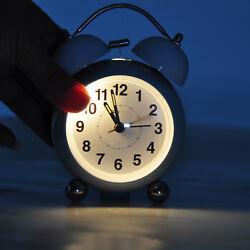 Analog Alarm Clock Vintage Retro Classic Bedroom Bedside Battery Twin Bell Loud