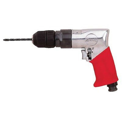 38 Keyless Sioux Force Reversible Pistol Grip Air Drill 1800 Rpm .47hp