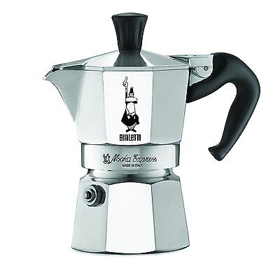 Bialetti Moka Express 1 Cup Stovetop Espresso Maker Pot Coffee Latte NEW