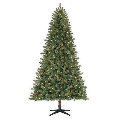 Artificial Christmas Tree Duncan Fir Pre-Lit 7 ft Quick Set Clear Color Lights ()