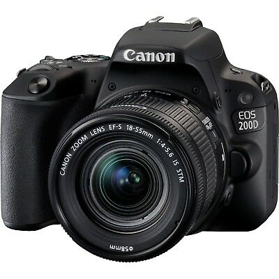 Canon EOS 200D (SL2) DSLR Camera w/ EF-S 18-55mm f/4-5.6 IS STM Lens