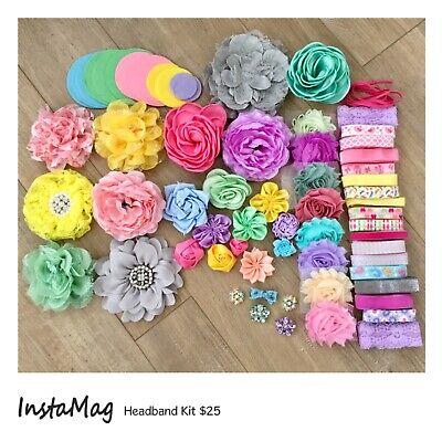 Diy Headband Kit (DIY Headband Kit - Baby Shower Activity - Pastel Colors -)