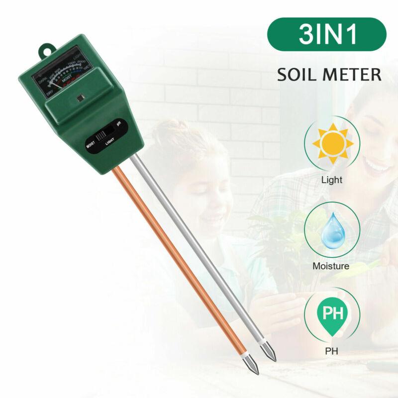 3 in1 Soil Water PH Moisture Light Test Meter Tester Kit For Plant Seeding Tool