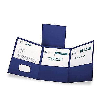Oxford Tri-fold Folder W3 Pockets Holds 150 Letter-size Sheets Blue 59802