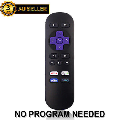 Replaced Remote for ROKU 1 2 3 4 LT HD XD XS with Amazon Netflix Radio Sling Key