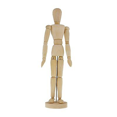 "US Art Supply 12"" Female Manikin Wooden Art Mannequin Figure"