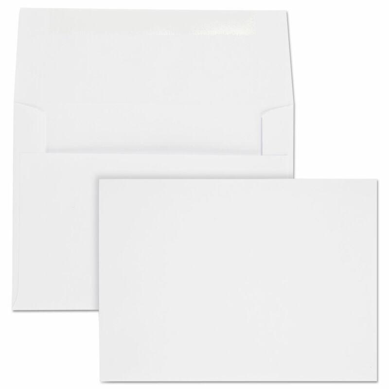 Quality Park Greeting Card/Invitation Envelope Contemporary #6 White 100/Box