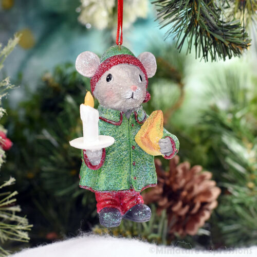 Mouse with Cheese Christmas Ornament Tree Decoration