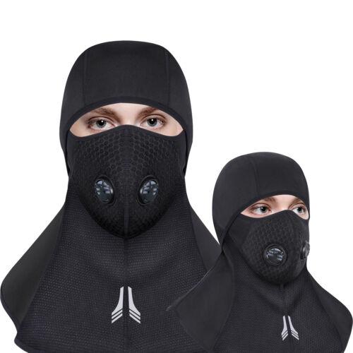 Balaclava Full Face Zipper Mask Cycling Hunting Ski Thermal Winter Sports Cap