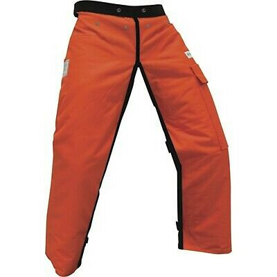 Forester Chainsaw Apron Chaps with Pocket, Orange 36 Length