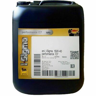 20 LT Olio Motore ENI 15w40 PER Motori Benzina e Diesel