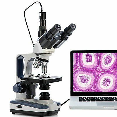 Swift 40x-2500x Trinocular Microscope Lab Clinic Veterinary With 3mp Usb Camera