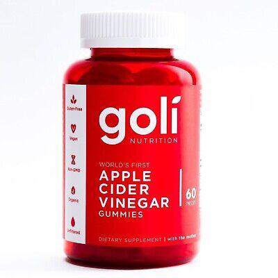 Goli Nutrition Gomitas de vinagre de sidra de manzana, 60 u. |...
