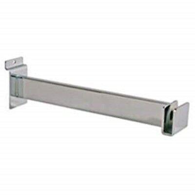 Only Hangers New 12 Chrome Slatwall Hangrail Bracket Lot Of 12
