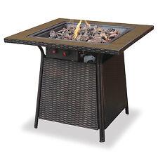 Endless Summer Decorative Tile Mantel LP Gas Outdoor Fire Pit + Rocks   GAD1001B