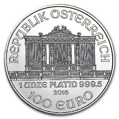 2016 Austria 1 oz Platinum Philharmonic Brilliant Uncirculated - SKU #96315