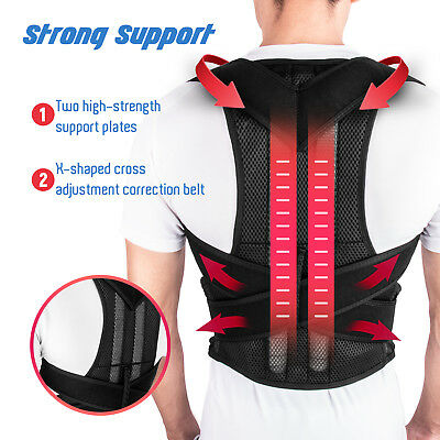 Back Posture Correction Shoulder Corrector Support Brace Belt Therapy Men Women ()