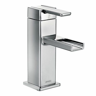 MOEN S6705 90-Degree Single Hole 1-Handle Mid-Arc Lavatory Faucet in Chrome