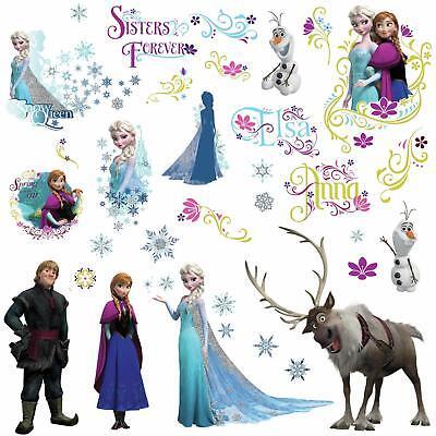 DISNEY FROZEN Movie Wall Decals OLAF ELSA ANNA New 36 Bedroom Sticker Room Decor Disney Bedroom Decor