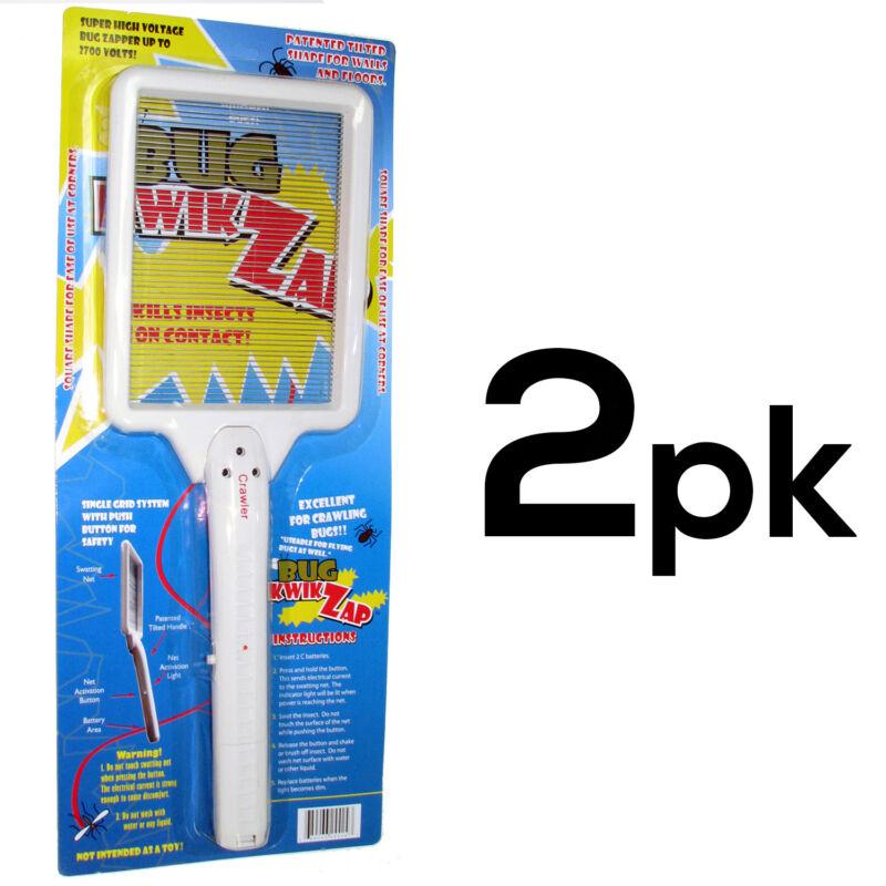 Handle Zapper Bugs Racket Electrostatic Technology Fly Mosquito Swatter (2PK)