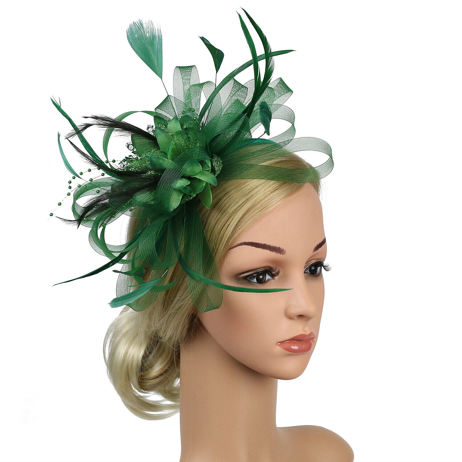 fascinator hat lady s day feather hair