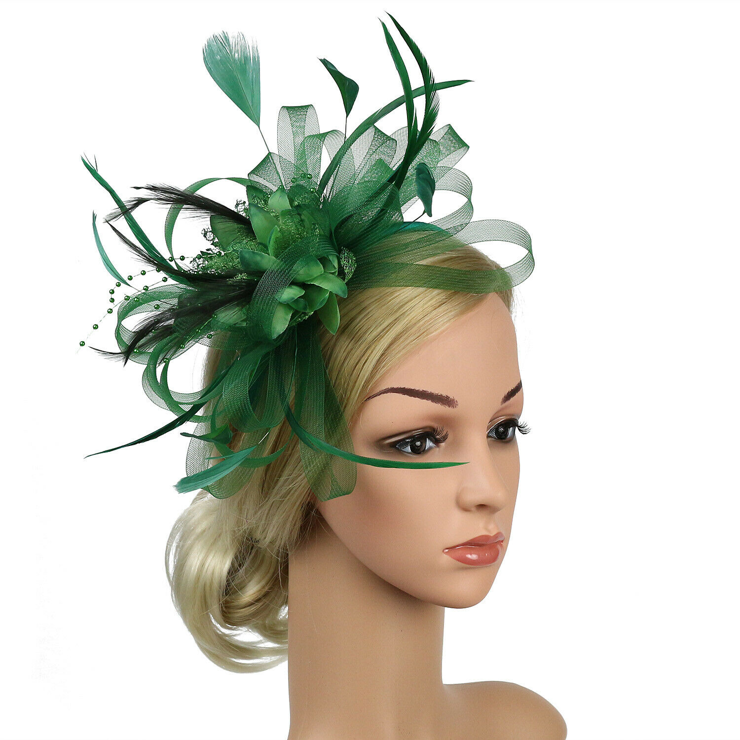 Fascinator Hat Lady's Day Feather Hair Clip Ascot Race Weddi