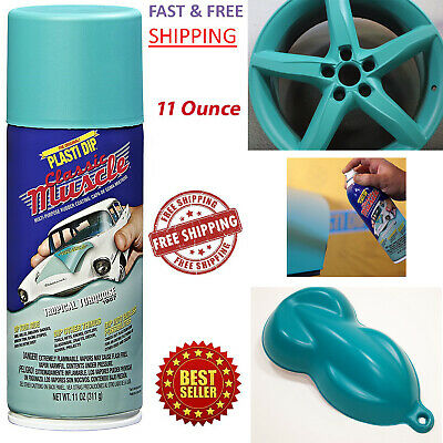 Plasti Dip Rubber Coating Spray Tropical Turquoise Color Classic Muscle Car Rims