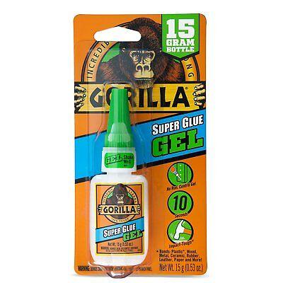 Gorilla Glue 7600101 Super Glue Gel 15 G Clear