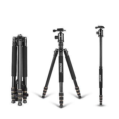 Professional Portable Tripod Monopod&Ball Head Travel for Canon Nikon SLR Camera
