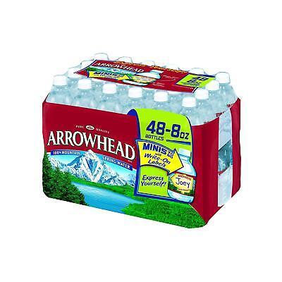 Arrowhead Mountain Spring Water, 8 Oz (Carton of 48) - Mountain Spring Water