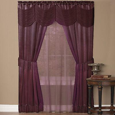 Curtains Ideas austrian valances curtains : HALLEY CURTAINS, SHEER AND AUSTRIAN VALANCE COMPLETE WINDOW SET