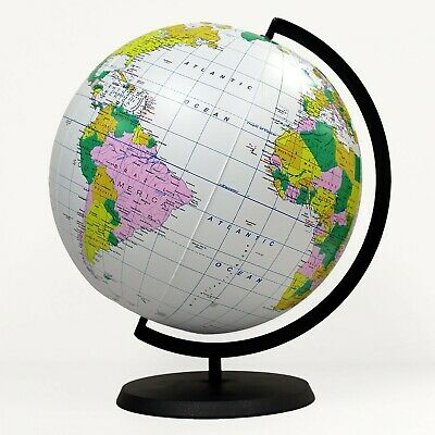 Globe Of The World (Educational Inflatable Globe Of The World - 12 Inch Blow Up Earth Ball With)
